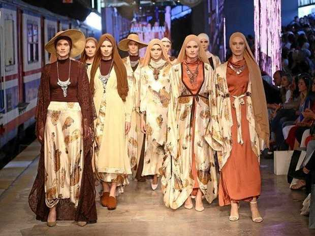 STYLISH: Amalina Aman's designs on show at the Istanbul Modest Fashion Week in 2016.