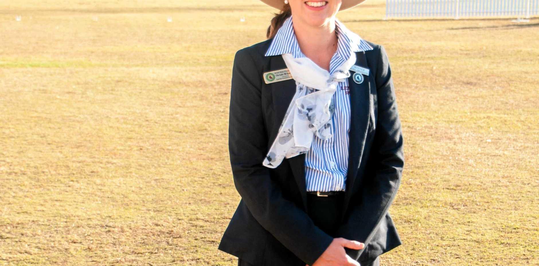 AMBASSADOR: Taroom woman Christie McLennan was crowned Queensland Rural Ambassador 2017, at the Ekka.