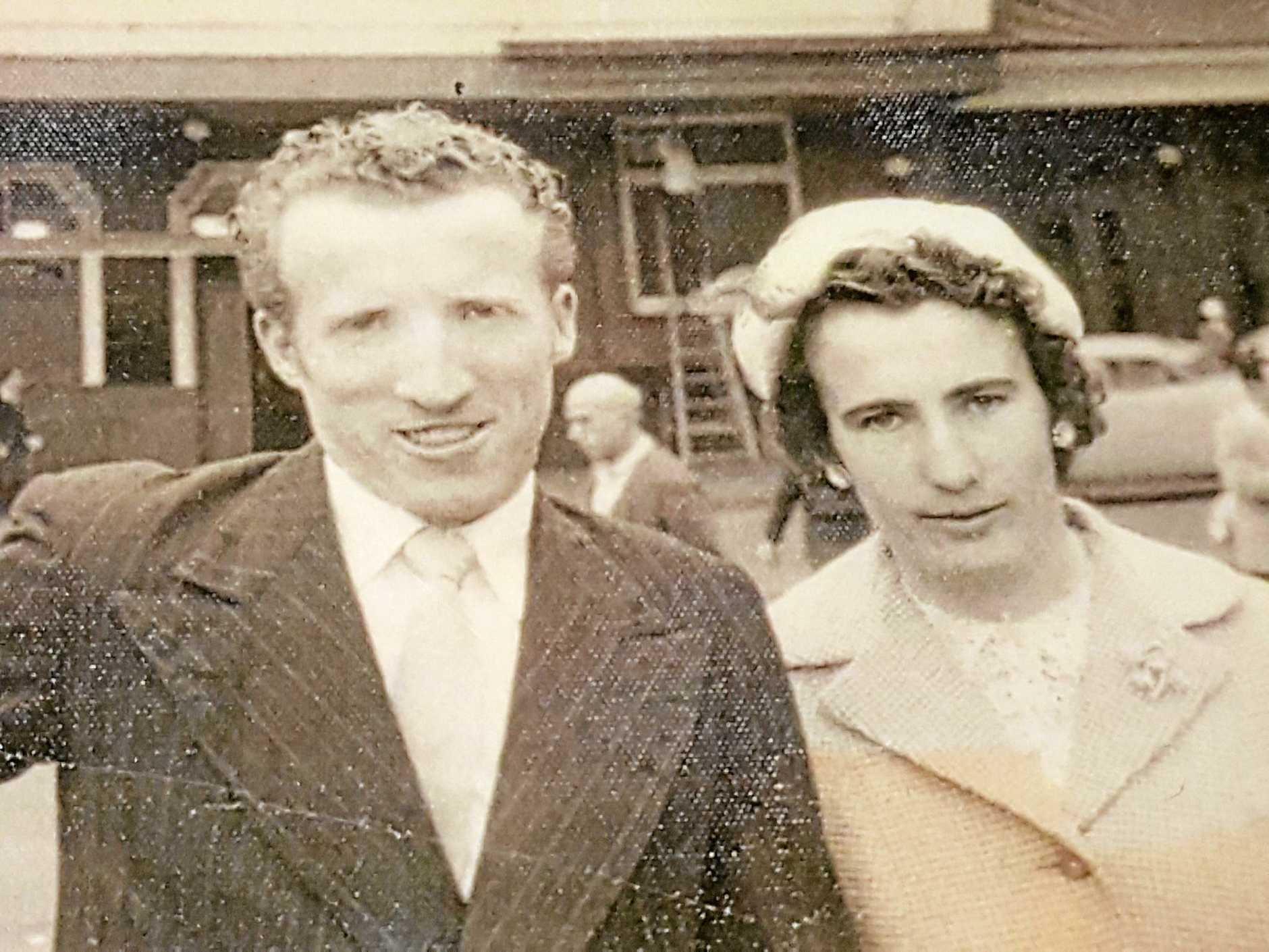 George and Nita Williamson on their wedding day.