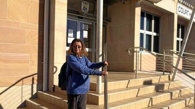 FINED: Samantha Wainwright outside Bundaberg Magistrates Court; and below Mighty Mouse.