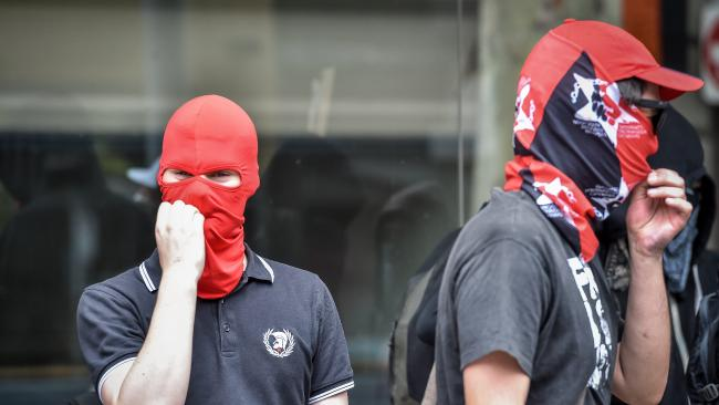 Image result for masked antifa members images
