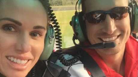 Paul Travis Callender and Amber Patrice Callender in a helicopter. Photo: Facebook