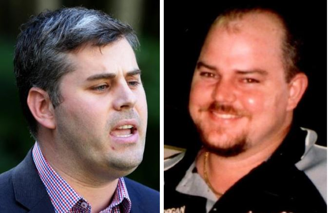 Police Minister Mark Ryan (L) has been accused of using Tim Pullen's family as political pawns. Mackay man Tim Pullen (R) was killed in 2012. His family still do not know where his remains are.