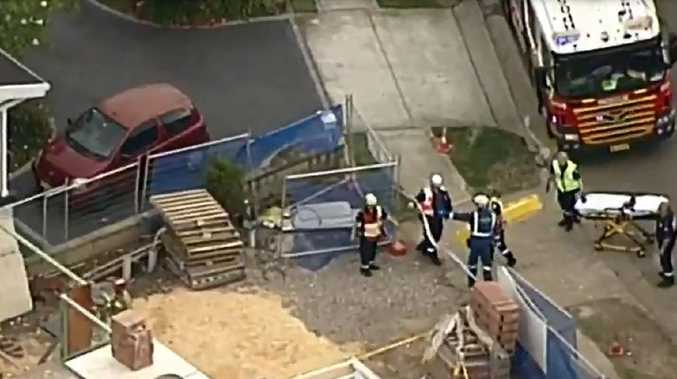 Two men have been injured after two walls collapsed in separate incidents. Picture: Nine News
