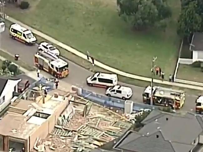 Emergency services at the scene in Carlingford. Picture: Nine News