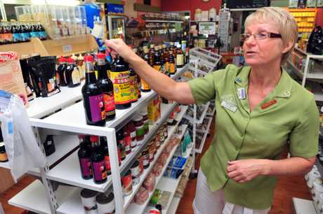 HEALTHY HABITS: Bundaberg Health Foods owner Meredyth Pembroke offers a wide range of products and advice for the health conscious. Photo: Max Fleet / NewsMail