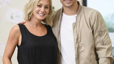 Matty Johnson with his sister Kate in a scene from The Bachelor.
