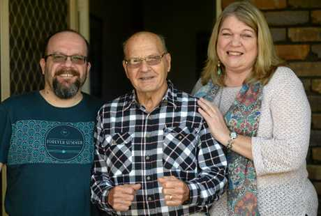 Ron Rendall has dementia. His son Aaron (right) and daughter Karen Bond are very close to him and support him the best they can.