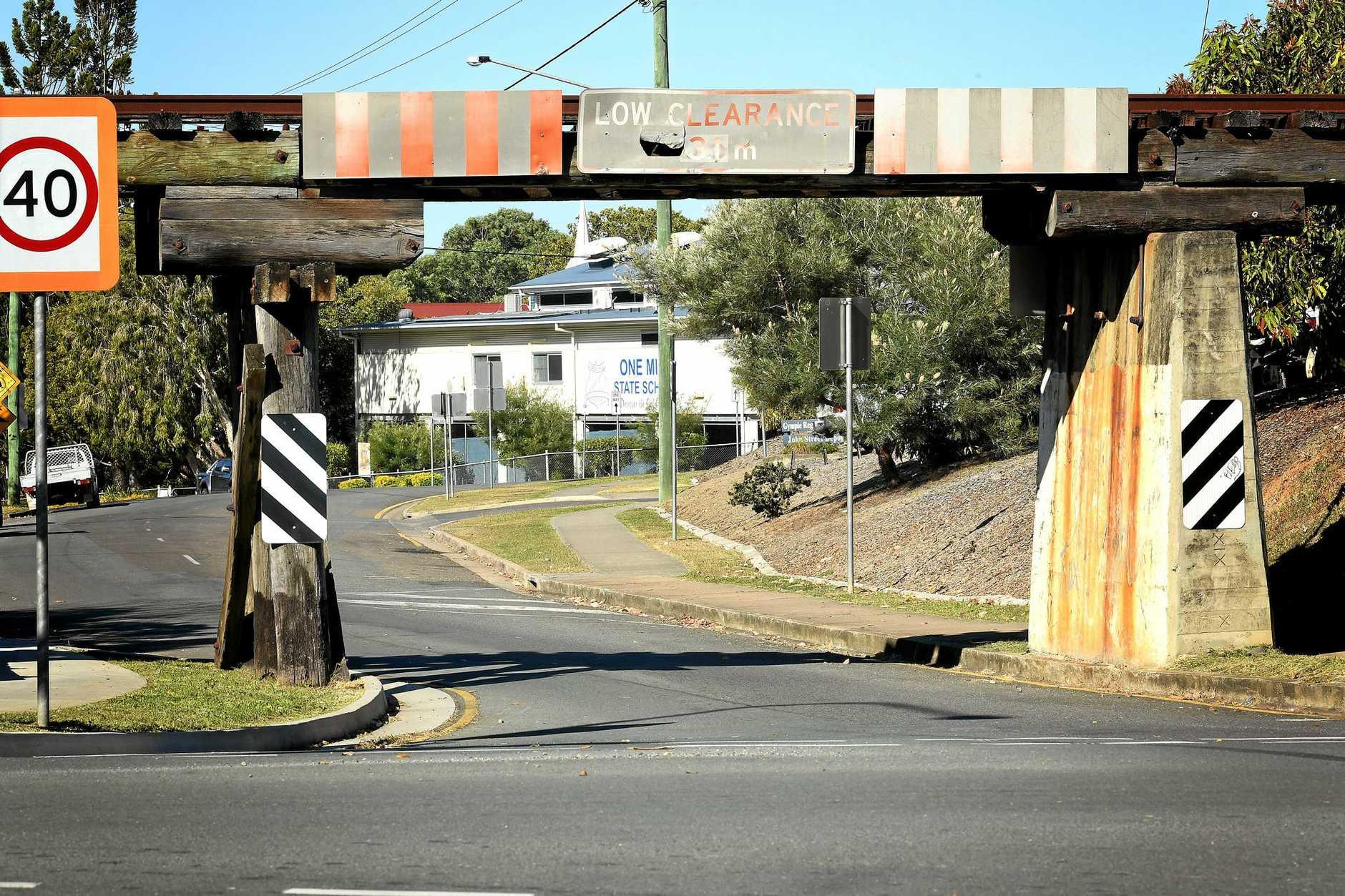 REPAIRS: John St Railway overpass.