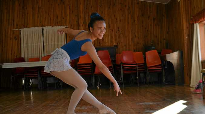 POISE AND GRACE: 14-year-old Dawn Love has been learning ballet for two years and recently excelled during her AOTD exams.