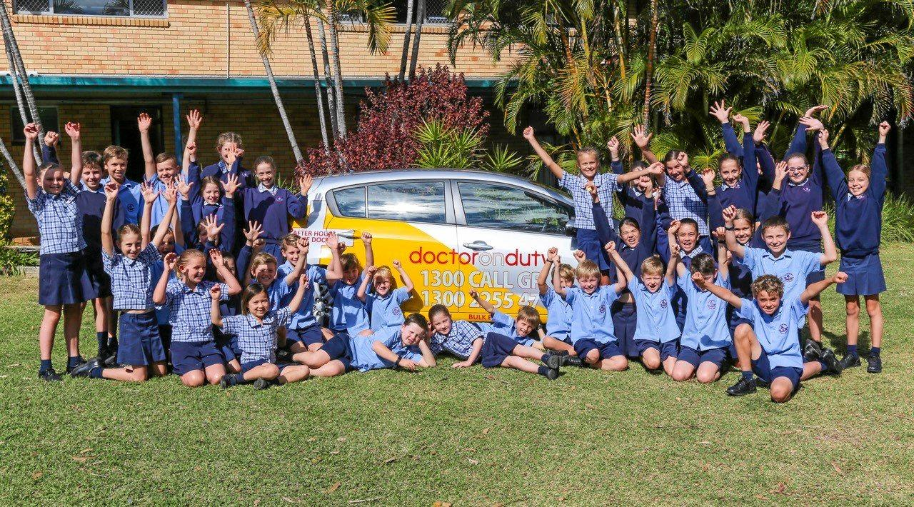 KEEN TO HELP: Students from St Augustine's Primary School will no doubt be prominent in the Dr on Duty Schools Challenge which is part of the Bendigo Bank Coffs Harbour Running Festival being held on September 3.