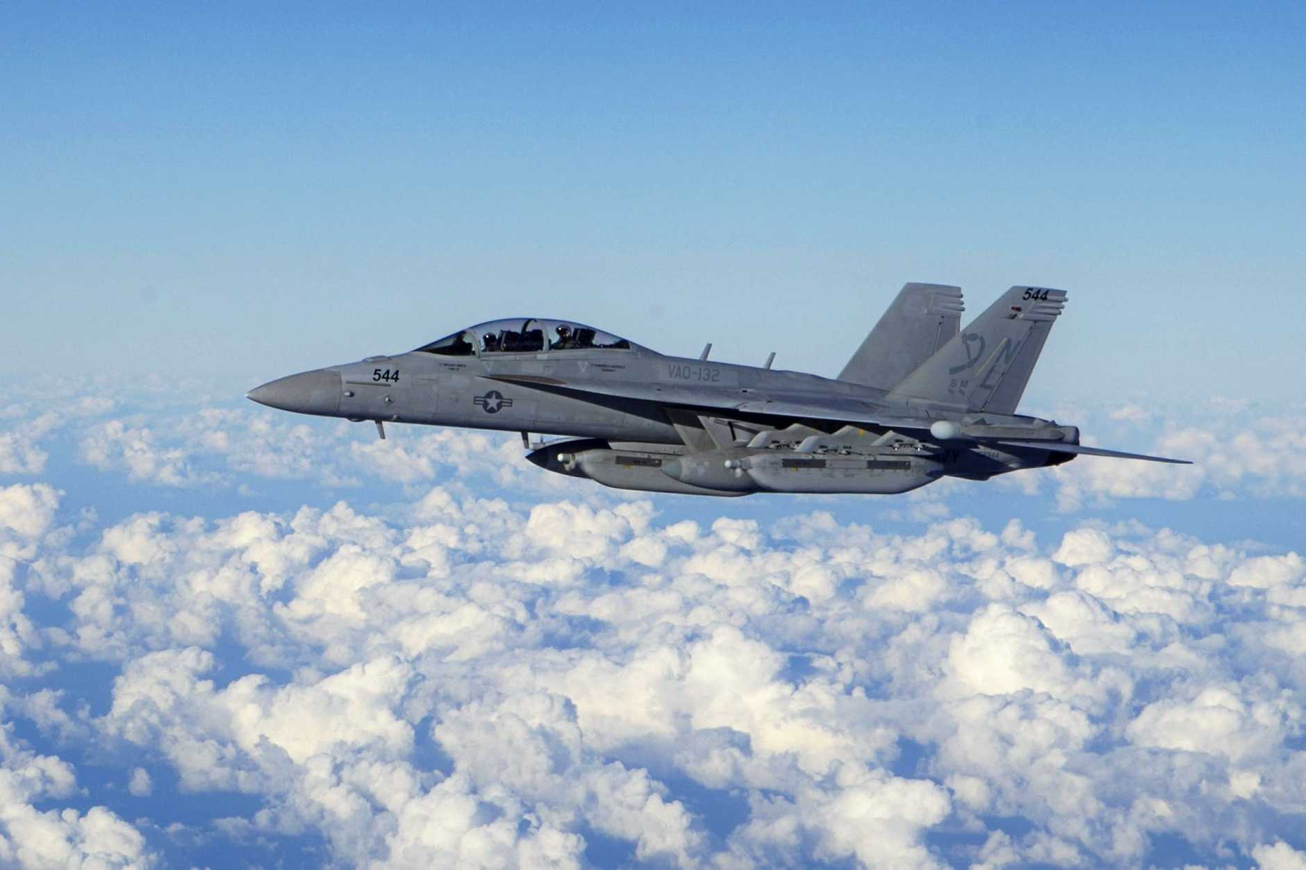 The EA-18G Growler, an airborne electronic attack aircraft, is capable of providing force level electronic warfare support.