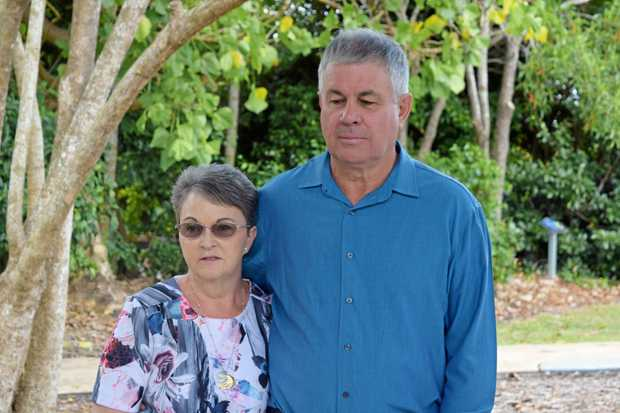 UPSET: Leanne and Gary Pullen spoke out in Mackay yesterday about finding out they'd been unaware a man jailed for their son's death had his release date approved.