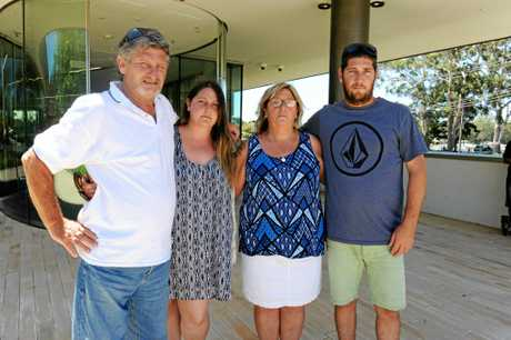 Matthew Mitchell's family attended the coronial inquest into his death last year. Pictured is Mr Mitchell's father Peter, sister Alisha, mother Julie, and brother Rob.