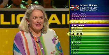 STAR: Alexandra Headland golfer Josie Ryan was close to cashing in on Nine's Millionaire Hot Seat.