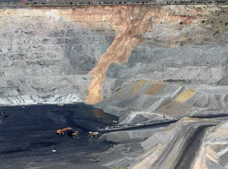 MATES IN MINING: Clermont open cut coal mine.