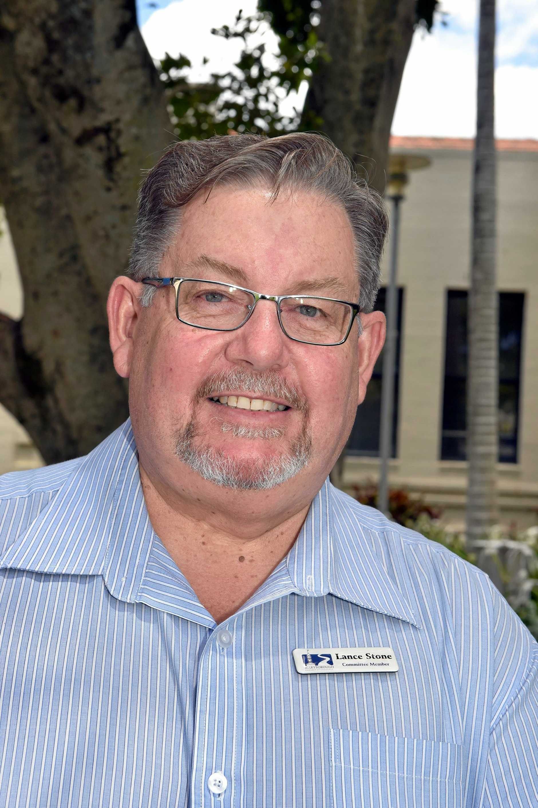 Maryborough Chamber of Commerce Lance Stone. Photo: Valerie Horton / Fraser Coast Chronicle