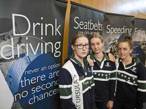 Young drivers shocked in role play