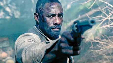 Idris Elba in a scene from the first trailer for the movie The Dark Tower.