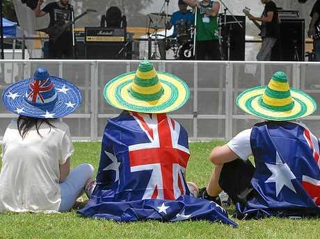 Australia day   Photo Peter Holt / Daily Mercury