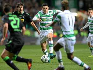 Socceroo stars for Celtic despite head knock