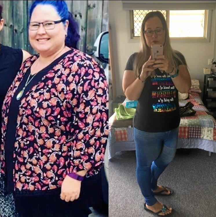 BEFORE AND AFTER: Kim Fletcher before (left) and after (right) 15 months on the keto diet.