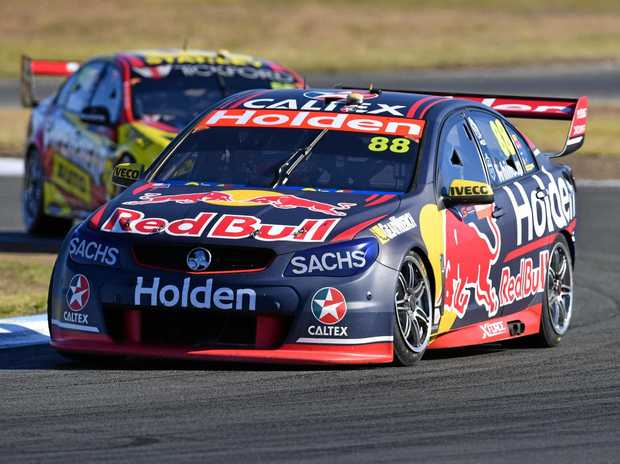 Jamie Whincup of the Red Bull Holden Racing team in action at the Ipswich SuperSprint.