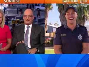Sunrise host gets flirty with our hot police officer