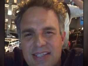 Mark Ruffalo protests against Trump