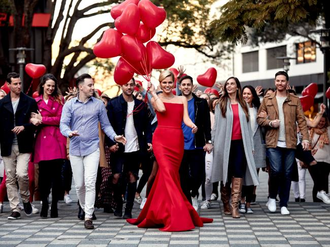 Sophie Monk shooting TV commercial for Bachelorette. Picture: TenSource:Channel 10