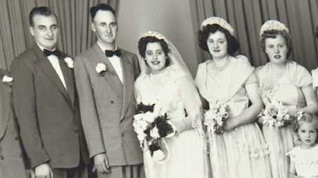 Mrs Grams on her wedding day in 1952, a year after she was given the ring.Source:Supplied