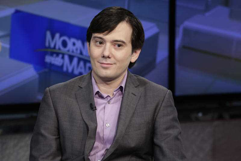 Martin Shkreli is interviewed by Maria Bartiromo during her