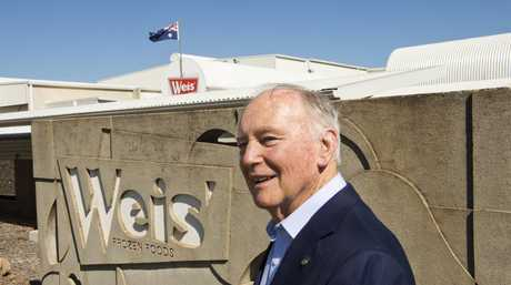 Les Weis makes one of his final visits to the Weis factory in Toowoomba earlier this week. PHOTO: NEV MADSEN
