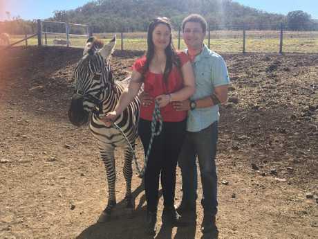 Ray Stewart and Sam Crossman got engaged at Darling Downs Zoo.
