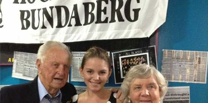 MISSING: Bundaberg's Kevin Holcroft hasn't been seen for 24 hours and his family are worried. He is picture here with his wife Flora and granddaughter Brittany.