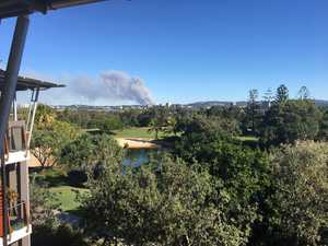 Massive bushfire breaks out alongisde Bruce Hwy