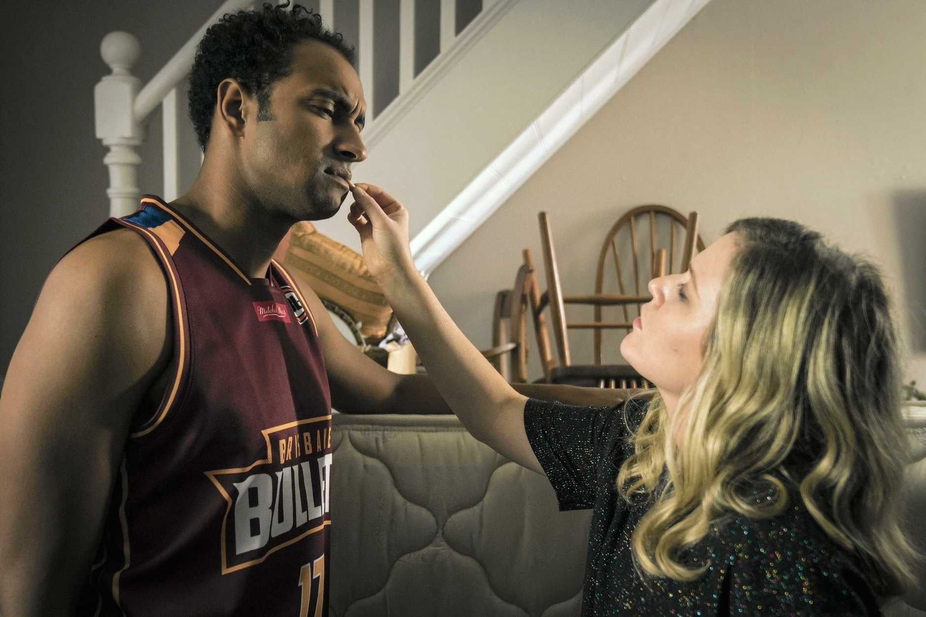 Matt Okine and Harriet Dyer from the TV series The Other Guy.