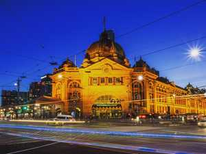 Flinders Street Station is a spectacular building near the Australian Centre for the Moving Image.