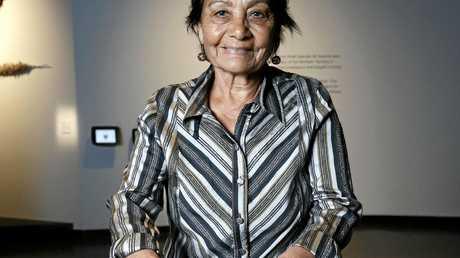 2017 Telstra National Aboriginal and Torres Strait Islander Art Awards, Wandjuk Marika Memorial Three-Dimensional Award winner Shirley Macnamara, with her work Nyurruga Muulawaddi.