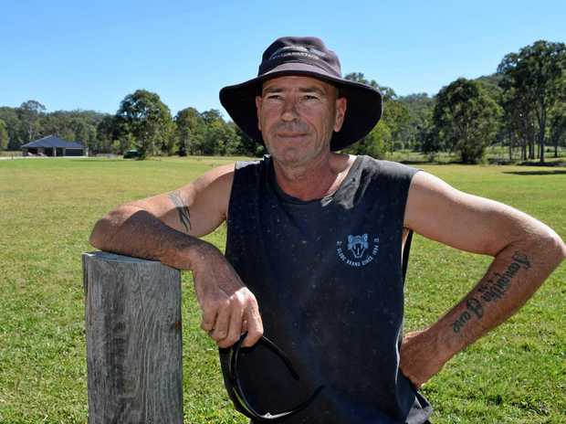 SLEEPY HOLLOW: Landsborough resident Trevor Smith says Beerwah East could bring better roads past his Hapgood Rd property.