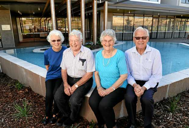 Elvie and Jim Mitchell and Daphne and Brian Grant have purchased units at Aveo Springfield and look forward to a week of free community events as part of the Seniors Week at Aveo Springfield next week.