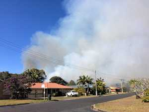Smoke from Anderson Street in East Ballina.