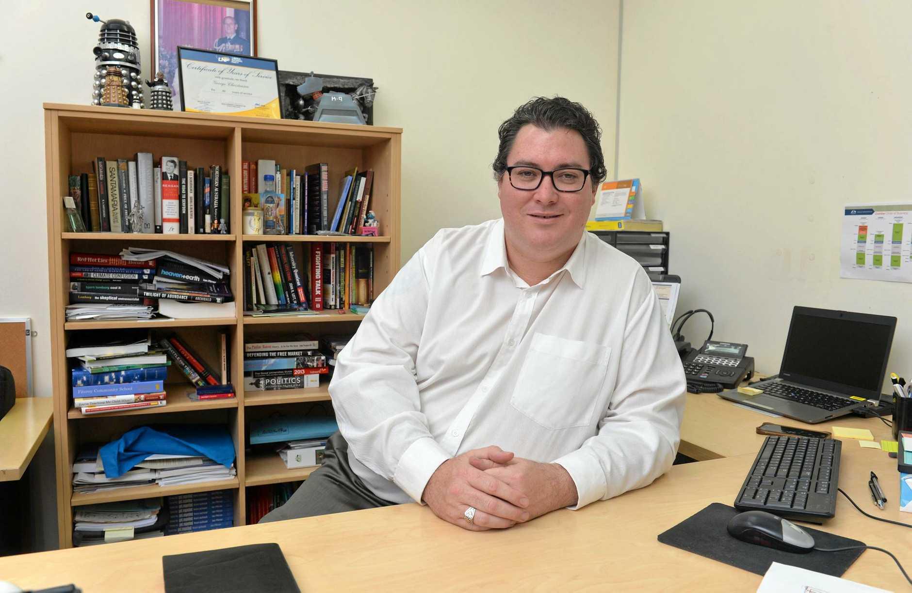 GOING ROGUE?: Dawson MP George Christensen.