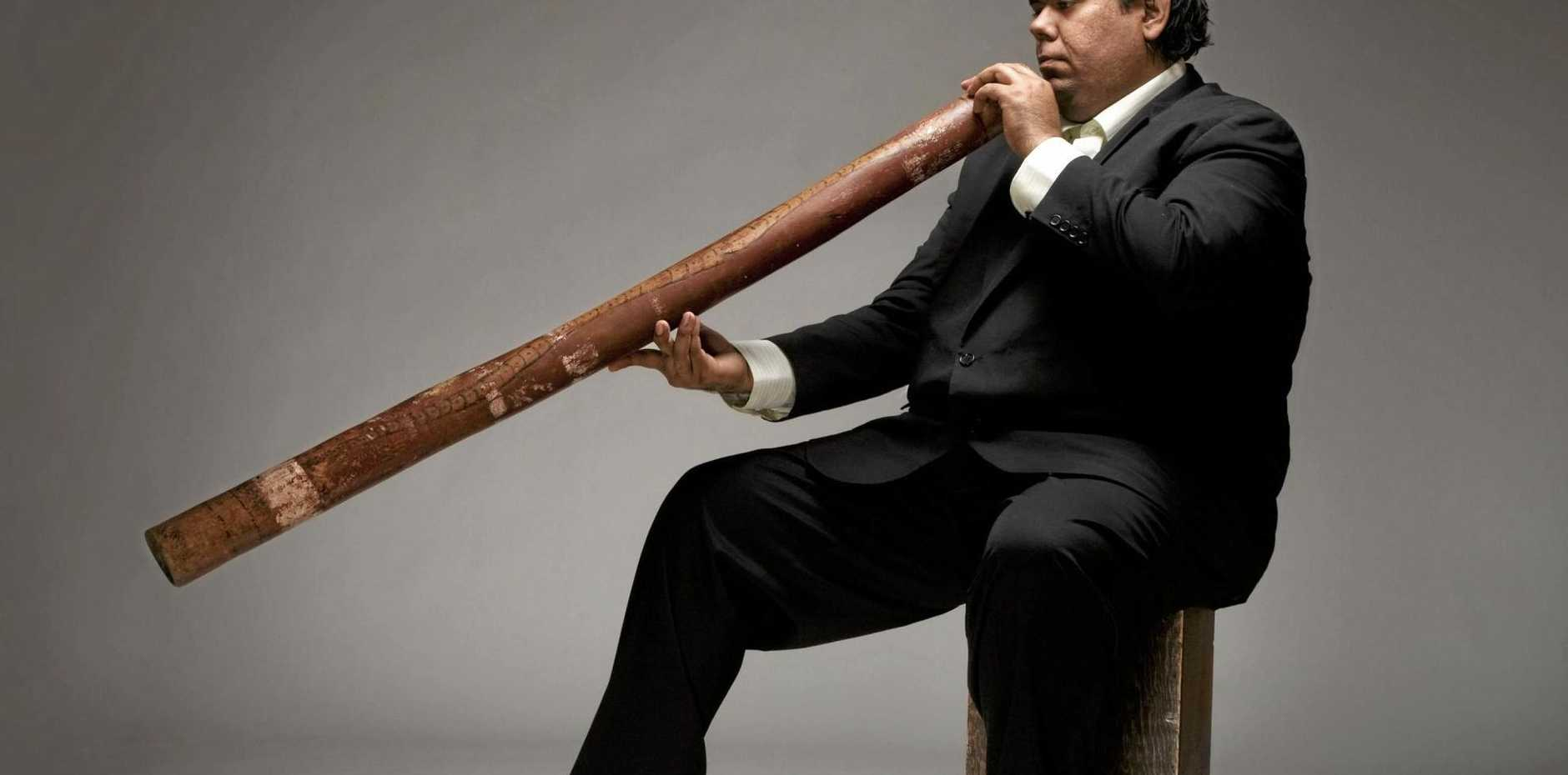 WORLD-FAMOUS: Didgeridoo player and winner of the 2012 ARIA for best classical album Kulkadunga, William Barton, is part of the line up at the Bangalow Music Festival 2017.