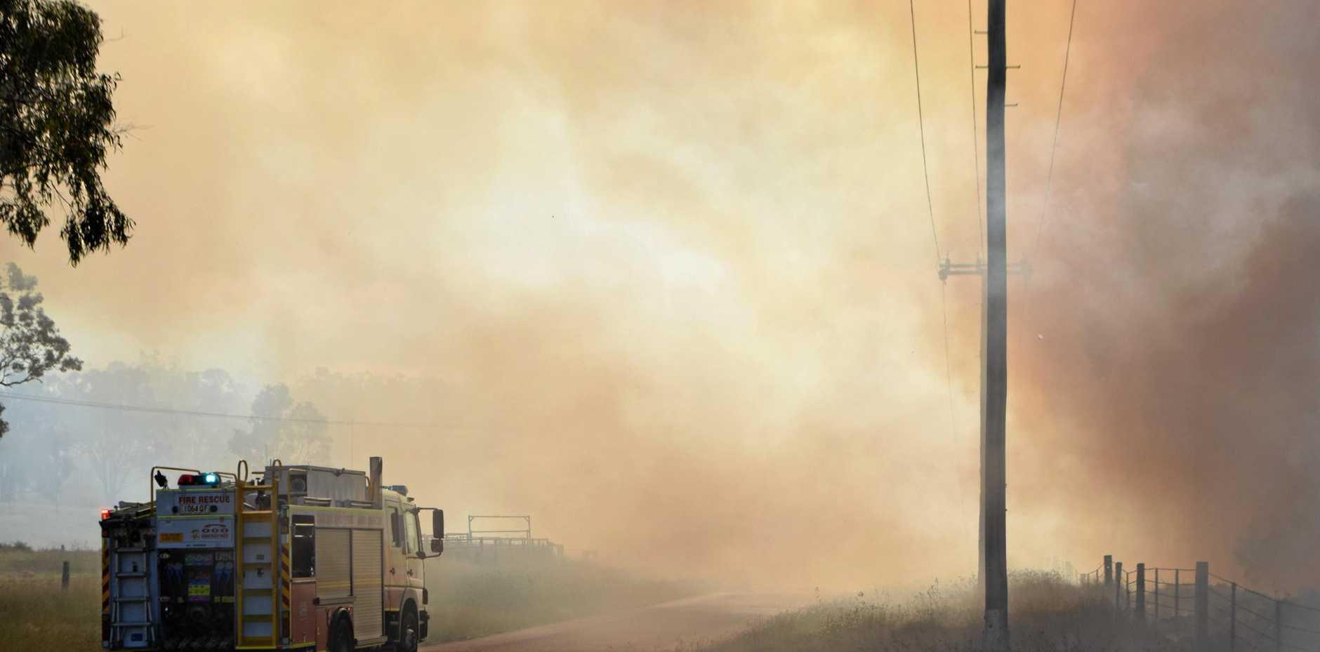 FIRE DANGER: Residents are warned to be bushfire ready