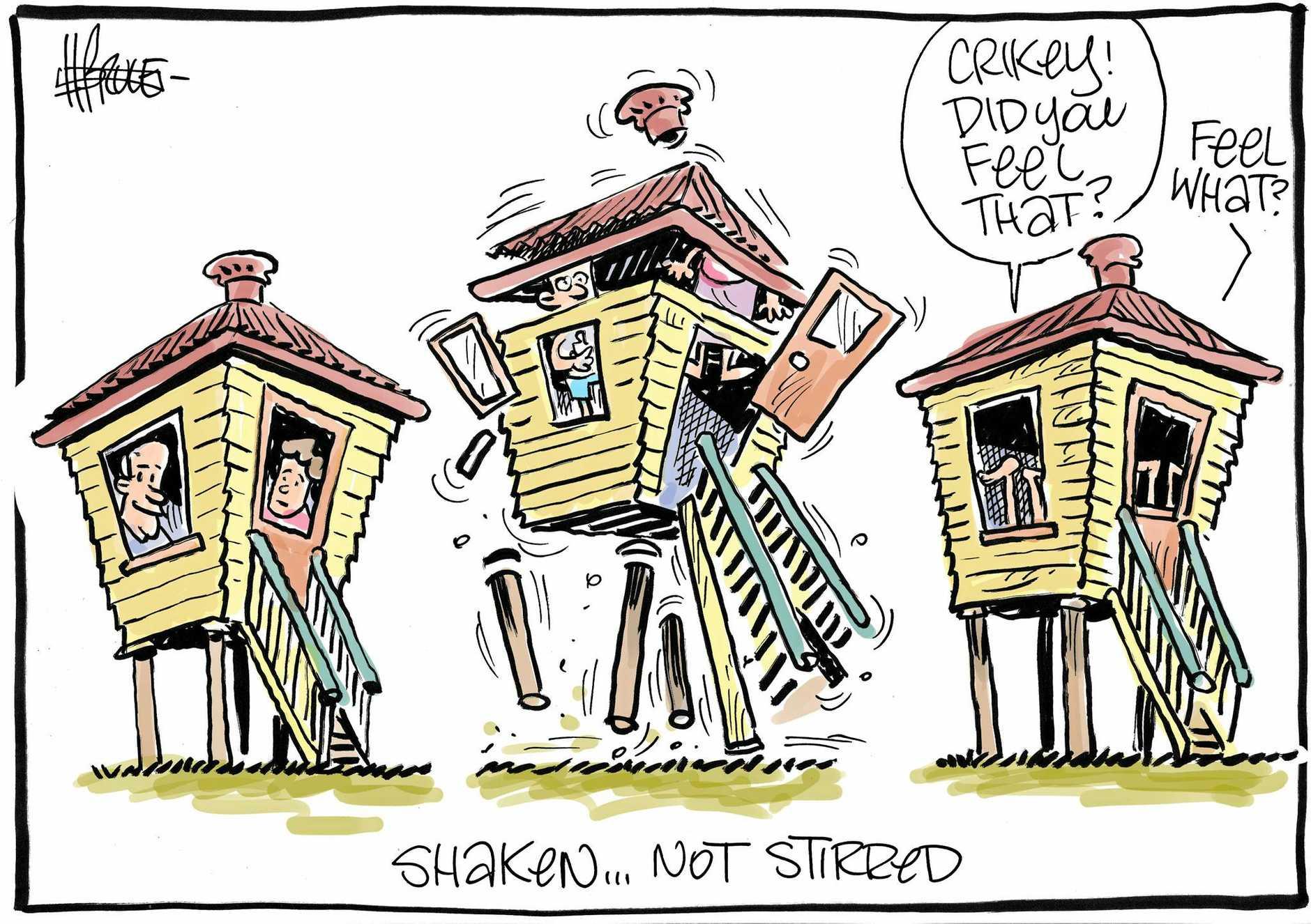Cartoon by Harry Bruce.