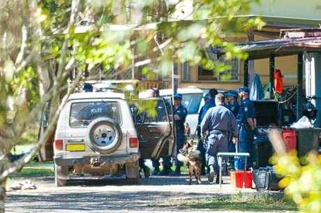 Police operation on Graham Drive, Sandy Beach. Photo: Rob Wright / The Coffs Coast Advocate