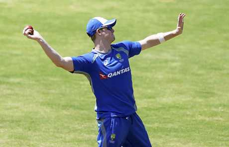 Australian captain Steve Smith during a training session.