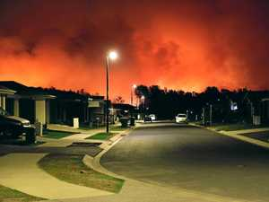 Massive blaze, fireballs, has firies battling before winds hit