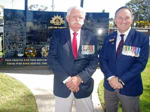 Attending Vietnam Veterans' Day in Sandgate are Vince Nissen (1RAR) of Deagon and Paul Harris (RSL sub branch committee) of Shorncliffe.